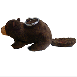 Zipper Pull - Natural Beaver