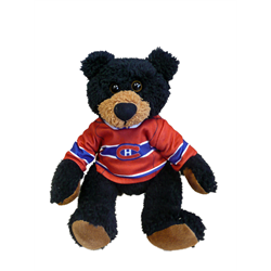 "10"" Curly Critter Black Bear - Montreal Canadiens"