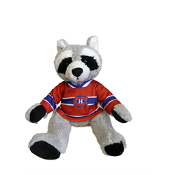 """10"""" Curly Critter Raccoon - Montreal Canadiens"""