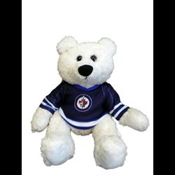 "10"" Curly Critter Polar Bear - Winnipeg Jets"