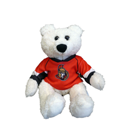 "10"" Curly Critter Polar Bear - Ottawa Senators"