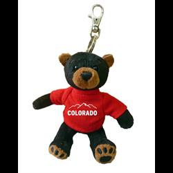 Zipper Pull - Black Bear - COLORADO & MTN Solid Red