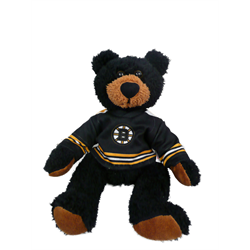"10"" Curly Critter Black Bear - Boston Bruins"