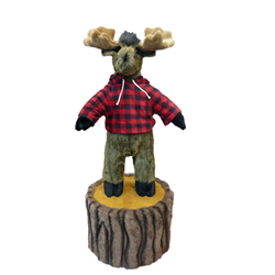 "36"" Character Moose on 12"" Stump"
