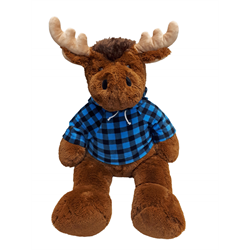 "34"" Cuddle Critter Moose (price includes custom embroidered hoody)"