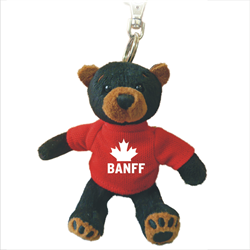 Zipper Pull - Black Bear - BANFF Solid Red
