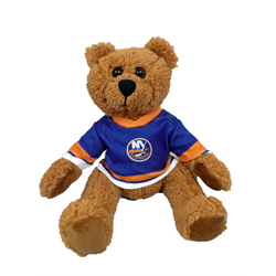 "10"" Curly Critter Brown Bear - New York Islanders"