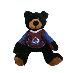 "10"" Curly Critter Black Bear - Colorado Avalanche"