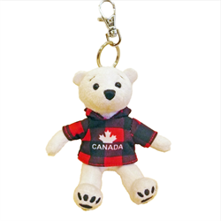 Zipper Pull - Polar Bear - CANADA Red Jack