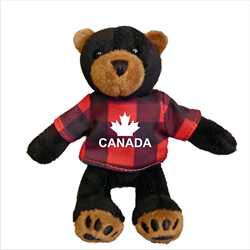 Zipper Pull - Black Bear - CANADA Red Jack