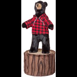 "36"" Character Black Bear on 12"" Stump"