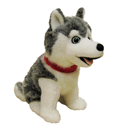 "7"" Sitting Grey Husky"