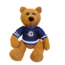 "10"" Curly Critter Brown Bear - Winnipeg Jets"