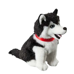 "7"" Sitting Black Husky/Canada Ribbon"
