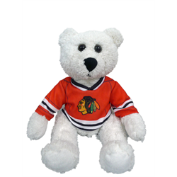 "10"" Curly Critter Polar Bear - Chicago Blackhawks"