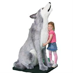 "Display - 5'4"" Grey Wolf Howling"