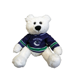 "10"" Curly Critter Polar Bear - Vancouver Canucks"