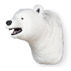Display - Wall Hanging Polar Bear Head