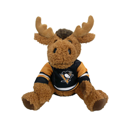 """10"""" Curly Critter Moose - Pittsburgh Penguins"""