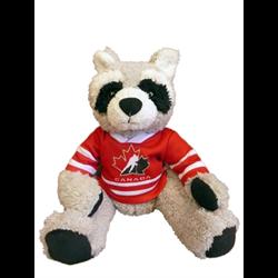 "10"" Curly Critter Raccoon - Hockey Canada"