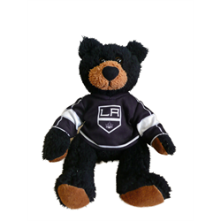 "10"" Curly Critter Black Bear - Los Angeles Kings"