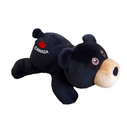 "9"" Extra Soft Floppy Black Bear CANADA"