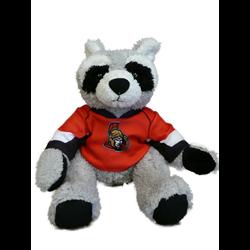 "10"" Curly Critter Raccoon - Ottawa Senators"