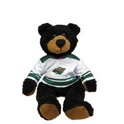 "10"" Curly Critter Black Bear - Minnesota Wild Jersey"