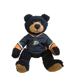 "10"" Curly Critter Black Bear - Anaheim Ducks"