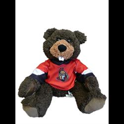 "10"" Curly Critter Beaver - Ottawa Senators"
