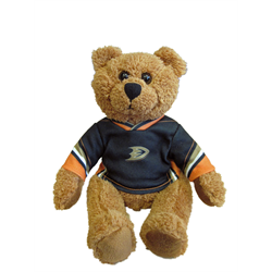 "10"" Curly Critter Brown Bear - Anaheim Ducks"