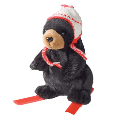 "6"" Skier Black Bear RED"