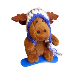Zipper Pull - Boarder Moose BLUE
