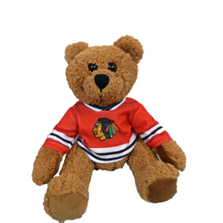 "10"" Curly Critter  Brown Bear - Chicago Blackhawks"