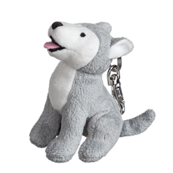Zipper Pull - Natural Howling Wolf
