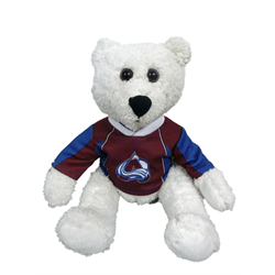 "10"" Curly Critter Polar Bear - Colorado Avalanche"