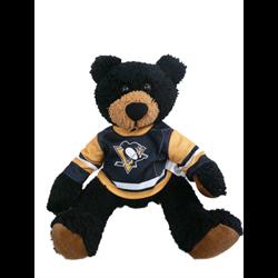 "10"" Curly Critter Black Bear - Pittsburgh Penguins"