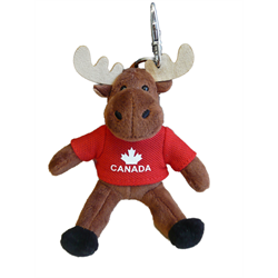 Zipper Pull - Moose - CANADA Solid Red